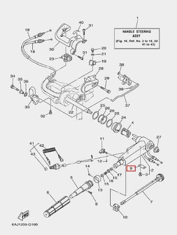 Пластина фиксатора для лодочного мотора F20 Sea-PRO (16-9)