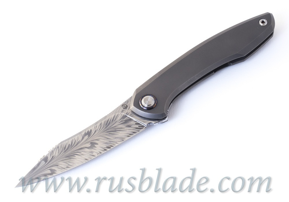 Cheburkov Russkiy Feather Damascus CUSTOM 2019