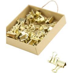 Зажимы U Brands Mini Gold Binder Clips, Золото, 1 шт