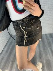 серая джинсовая юбка nadya