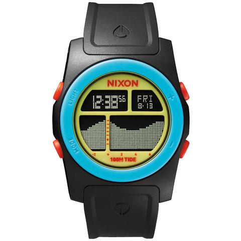 Часы NIXON Rhythm Black/Blue/Chartreuse