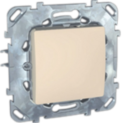 Выключатель одноклавишный промежуточный - Перекрестный переключатель одноклавишный. Цвет Бежевый. Schneider electric Unica. MGU5.205.25ZD