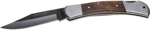 Нож STAYER складной с деревянными вставками, большой