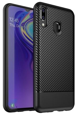 Ультра тонкий чехол на Samsung Galaxy M20 стиль под карбон, серии Fit от Caseport