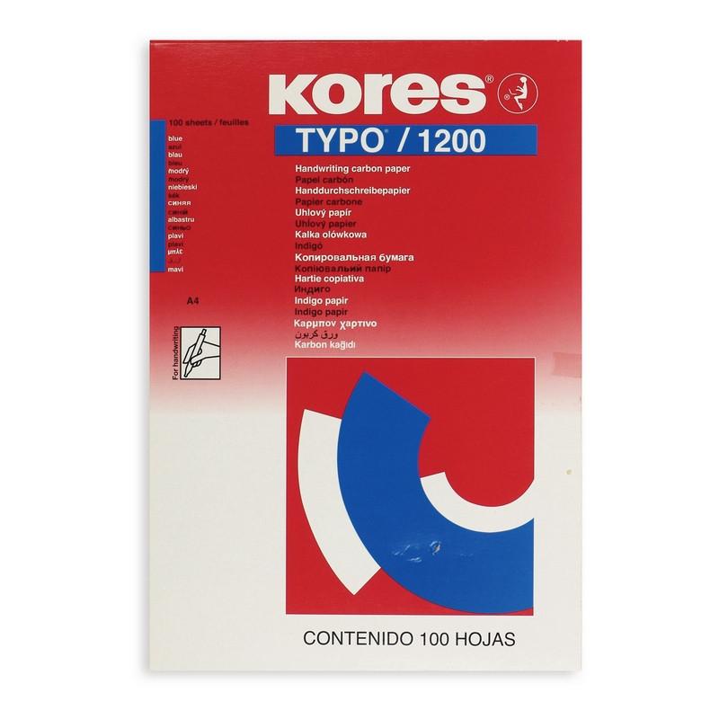 Бумага копировальная синяя Kores 1200 (А4, 100 листов)