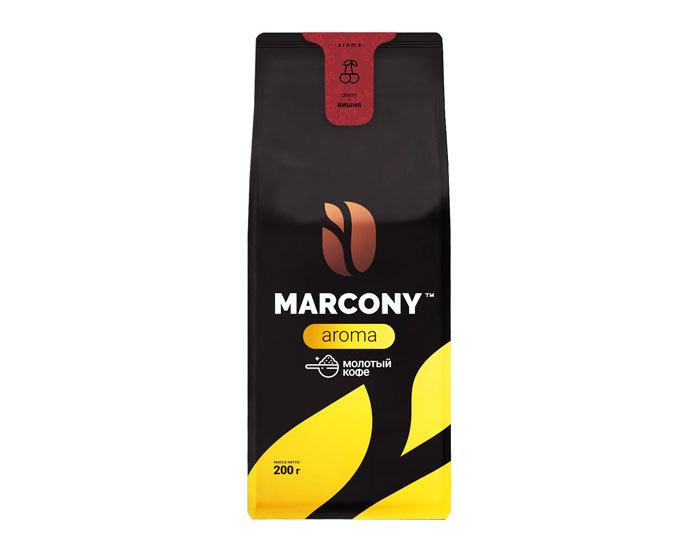 купить Кофе молотый Marcony Aroma со вкусом Вишни, 200 г