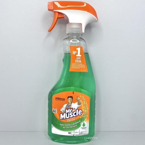 Средство для мытья стекла Mr Muscle со спиртом 500 мл, с распылителем