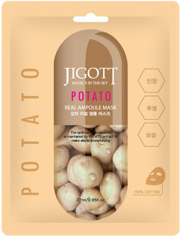 JIGOTT POTATO Real Ampoule Mask Тканевая маска с картофелем