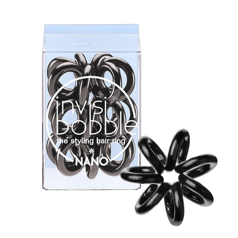 Резинка для волос Nano True Black | Invisibobble