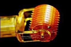 Дермароллер MR 200 титановых игл с позолоченным напылением