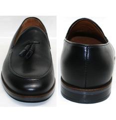 Кожаные туфли мужские Ikoc BlacK-1