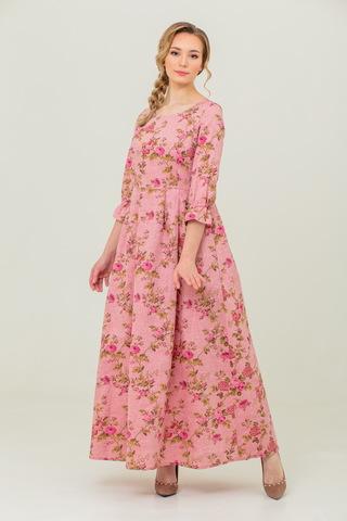 Платье из льна и хлопка онлайн