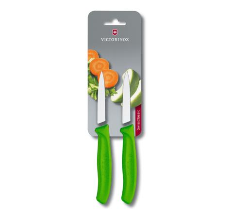 Набор Victorinox кухонный, 2 предмета, лезвие прямое, зеленый