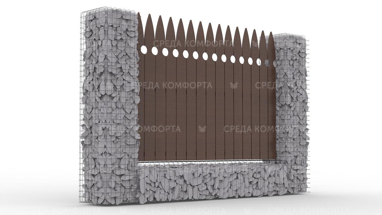 Деревянный забор ZBR0114
