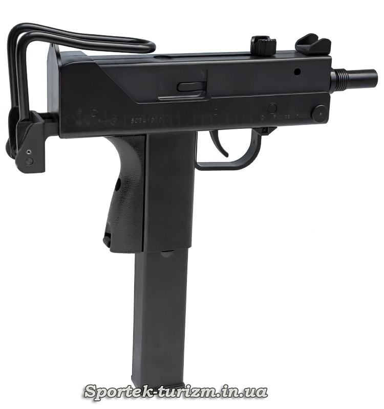 Вид праворуч пневматичного пістолета KWC Mac 11