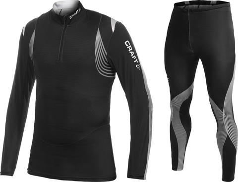 Комбинезон лыжный Craft EXC Club (Рубашка + Тайтсы) унисекс черный
