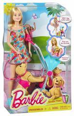 Барби прогулка со щенками Barbie