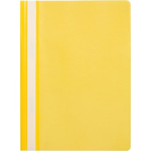Скоросшиватель пластиковый Attache Economy A4 до 100 листов желтый (толщина обложки 0.11 мм, 10 штук в упаковке)