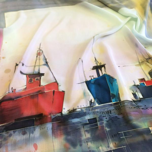 Шёлковый платок В порту С-60