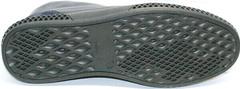 Мужские кожаные ботинки на плоской подошве Luciano Bellini BC2802 L Blue.
