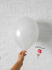 Воздушный шар белый металлик