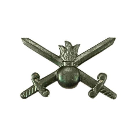 Эмблема петличная Сухопутные войска, металл. защитный