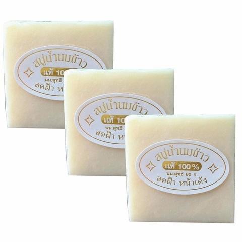 Мыло для тела и лица K.Brothers Jasmine Rice Soap с жасминовым рисом и кокосовым молоком 60 гр
