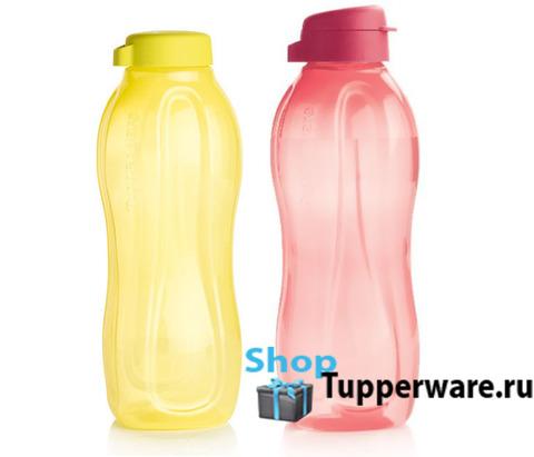 бутылка эко 1,5 л  в желтом и коралловом цвете