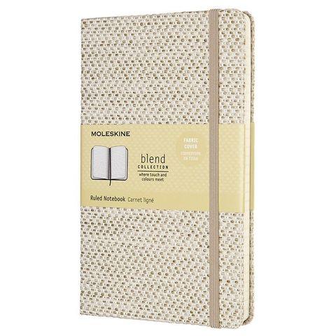 Блокнот Moleskine LIMITED EDITION BLEND 19 LCBD04QP060G Large 130х210мм обложка текстиль 240стр. линейка бежевый/белый