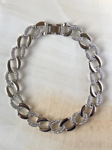 Колье Вивьен, серебряный цвет