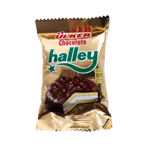 """Печенье """"Halley"""" сэндвич в молочном шоколаде с маршмэллоу 8шт 240г"""