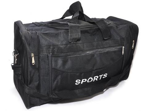 Сумка спортивная. Размер 56х33х23 см. Основной карман на молнии, дополнительный накладной карман сбоку, двумя торцевыми карманами, плечевой ремень. DY-8130
