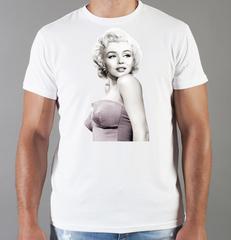 Футболка с принтом Мэрилин Монро  (Marilyn Monroe) белая 008