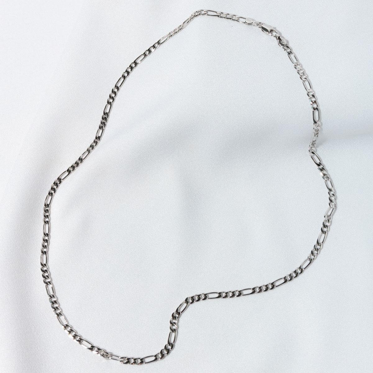 Цепь комбинированного плетения 3мм 60см (серебристый)