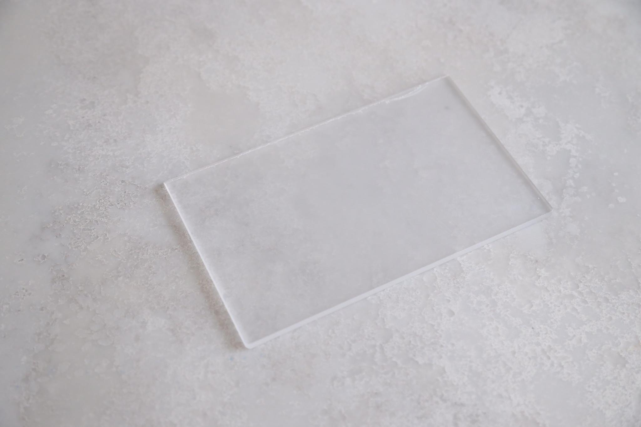 Шпатель пластиковый прозрачный, 20х12,5 см