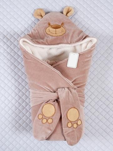 Зимний конверт-одеяло Little Bear молочный шоколад
