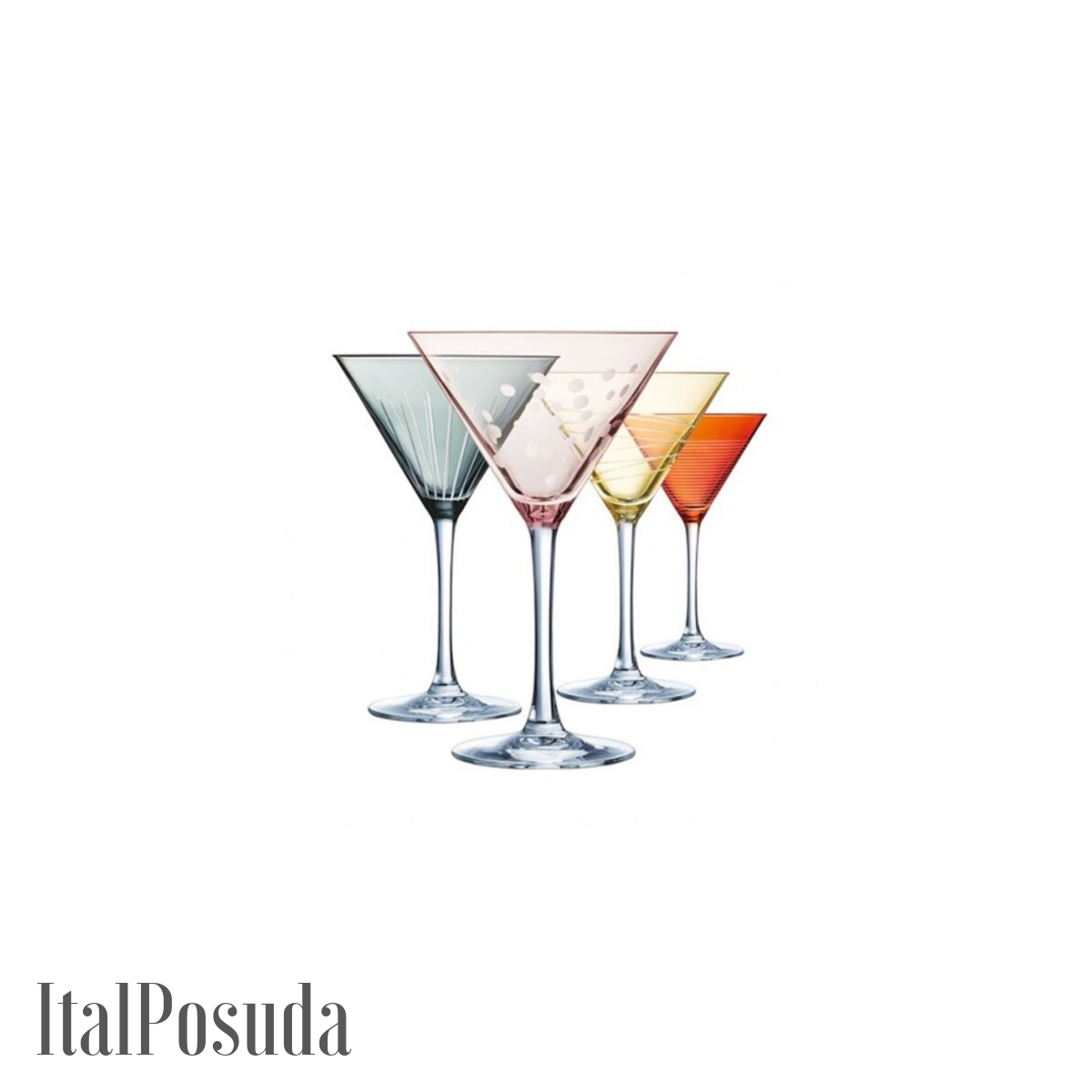 Набор бокалов для коктейля Eclat Cristal d'Arques Illumination Colors (Иллюминейшн Колорс), 4 шт L7603