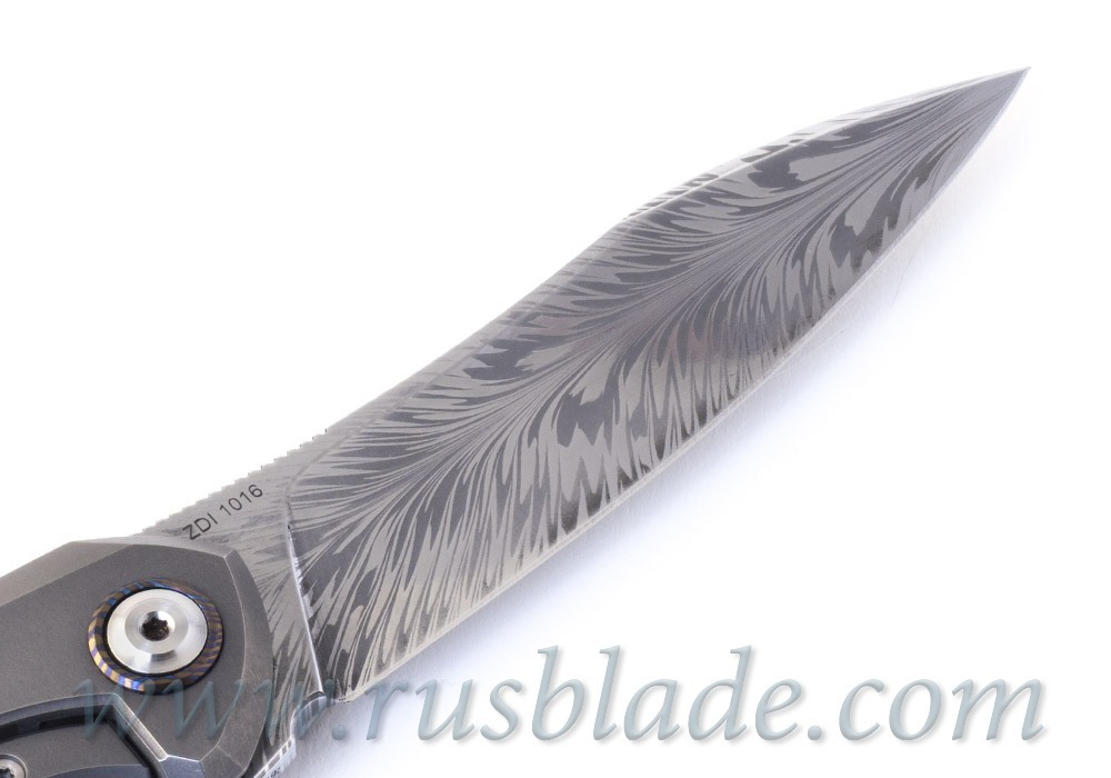 Cheburkov Russkiy Feather Damascus CUSTOM 2019 - фотография