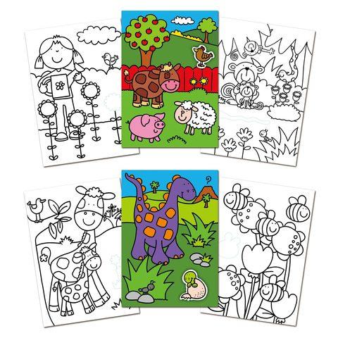 Раскраска со стикерами (размер 29,7*21 см)
