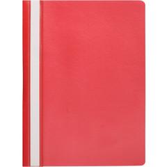 Скоросшиватель пластиковый Attache Economy A4 до 100 листов красный (толщина обложки 0.11 мм, 10 штук в упаковке)