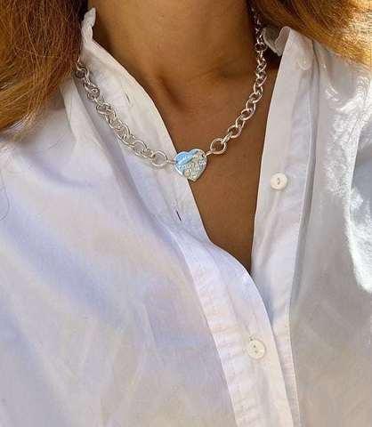 Колье Tiffany серебро