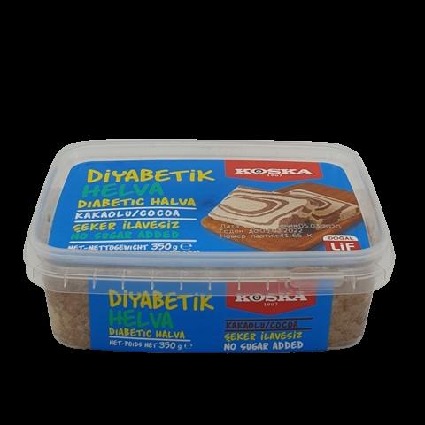 Халва кунжутная с какао без сахара KOSKA, 350 гр