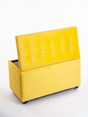 Пф-800-Я Пуфик квадратный (желтый) с ящиком для хранения