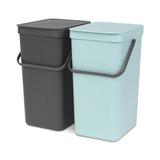 Набор ведер для мусора SORT&GO 16л (2шт), артикул 110023, производитель - Brabantia