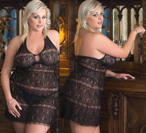 Ажурное черное секси-платье Kate (BS)