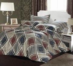 Сатиновое постельное бельё  1,5 спальное Сайлид  В-159