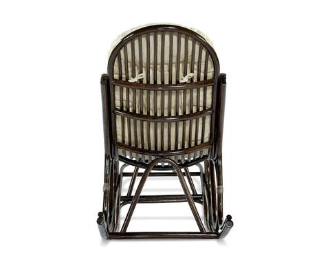 Кресло-качалка из ротанга с подножкой 05/17