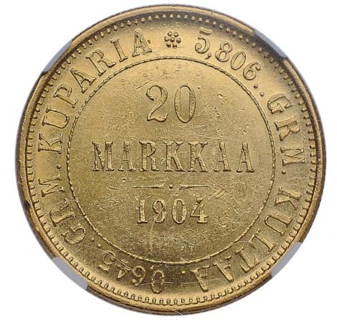 20 Марок 1904 года золото