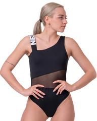 Купальник слитный Nebbia One shoulder sporty swimsuit 559 Black