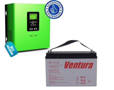 Комплект ECOVOLT TERMO 612+ VENTURA GPL 12-100